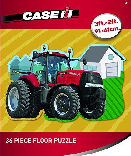 Masterpieces Puzzle Company John Deere Case Ih Floor Puzzle Jigsaw Puzzle (36-Piece) front-61909