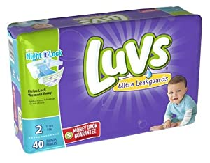 Luvs with Ultra Leakguards, Size 2 Diapers - 40 Ea, 2 Pack