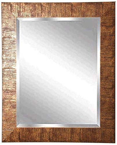 American Made Rayne Safari Bronze Beveled Wall Mirror, 39.5 X 33.5 front-897757