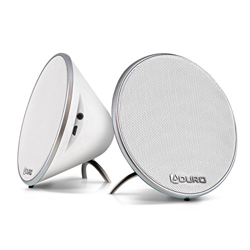 Aduro Amplify DSS-08-BSP25 Wireless Bluetooth 4.0 Dual Stereo Speakers (White)