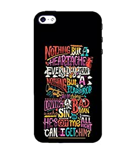 99Sublimation Cani Get Him Quote 3D Hard Polycarbonate Back Case Cover for Apple iPhone 5S