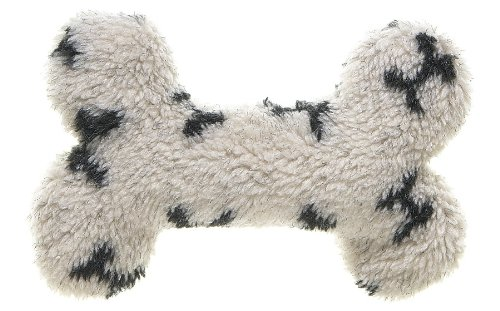 West Paw Design Mini Bone Squeak Toy for Dogs, Oat Bone