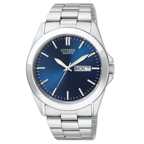 Citizen Quartz Day Date Blue Dial Men's Watch - BF0580-57L