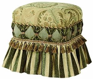 Jennifer Taylor Contessa Ruffle Skirt Ottoman Golden Caramel