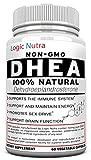 DHEA 100 mg Force maximale Supplément - Look & Feel Younger - Niveaux Balance des hormones pour hommes et femmes - 60 capsules végétales garanti au travail ou votre argent, sans poser de questions! par Logic Nutra