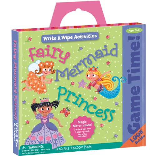 Peaceable Kingdom / Game Time! Fairy, Mermaid, Princess Write & Wipe Activities front-668087
