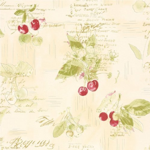new-luxury-rasch-cherries-recipes-baking-textured-vinyl-kitchen-wallpaper-red-green-cream-837506