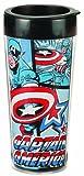 Captain America Marvel 16 oz. Plastic Travel Mug