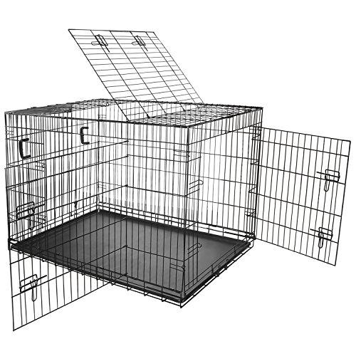 Multifunzionale Trasportini/ Gabbia/Cassa per animali di compagnia Pieghevole - Dimensione XL - Nero
