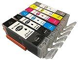 [ノーブランド品] ICチップBCI-370XL BCI-371XL 6色セット 互換インクカートリッジ