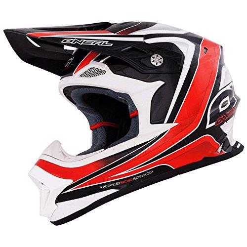 O'Neal 8Series RACE Helm Schwarz Rot MX Motocross Fullface Helmet, 0619R-3