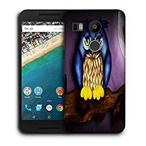 Snoogg Cute Owl Printed Protective Phone Back Case Cover For LG Google Nexus 5X