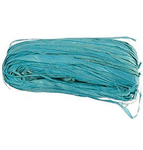 Véritable raphia turquoise