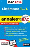 ANNALES BAC 2014 LITTERATURE T