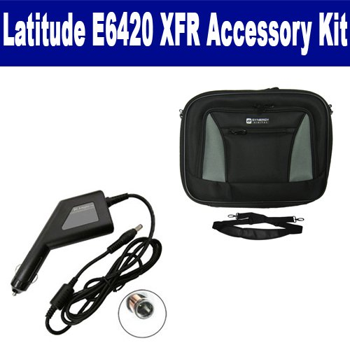 Dell Latitude E6420 XFR Laptop Accessory Kit includes SDA 3567 Car Adapter, SDC 33 Case