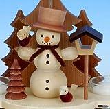 1-tier German Christmas Pyramid - Snowman - 19,5cm / 8 inches - Christian Ulbricht