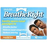 Breath Right Nasal Strips Clear Regular 10 Pack