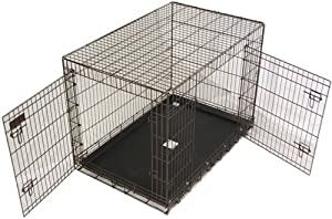 "Precision Pet Two-Door Great Crate, Medium/Large 4000, 36 x 23 x 25"", Chrome"