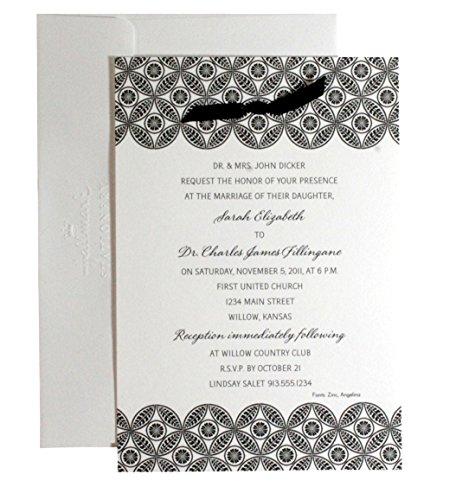 Hallmark Invitations Wedding: HALLMARK 40-Count Invitation Panel Cards (Black Pattern