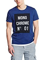 Scotch & Soda Camiseta Manga Corta (Azul Índigo)