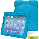 Shockproof Waterproof Kids Proof Protective Survivor Defender Case Cover with Stand for Ipad 4 3 2 Blue