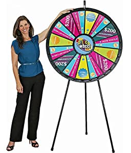 15 to 30 Slot 40 Black Floor Stand Big Prize Wheel by Event Prize Games