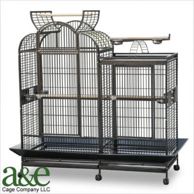 A&E Cage Co. Large Split Level House Bird Cage with Divider