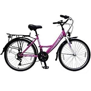 24 zoll fahrrad 21 gang shimano schaltung mit beleuchtung rosa weiss talson sport. Black Bedroom Furniture Sets. Home Design Ideas