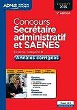 Concours Secrétaire administratif et SAENES - Catégorie B - Annales corrigées - Entraînement - Concours 2016