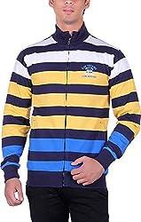 RGT Men's Fleece Regular Fit Sweatshirts (RGT6016YELLOW-L)