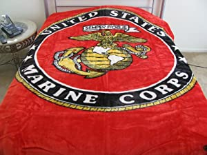 Korean Style Queen Blanket United States Marine Corps