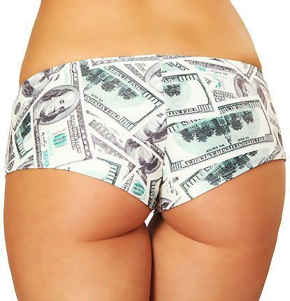 3WISHES 'Money Shorts' Sexy Boy Shorts for Women