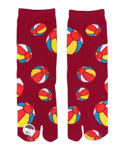 Ninja Tabi Socks,Geisha/ninja Female Tabi Socks: Unisex (Beachball-Usen) - 1