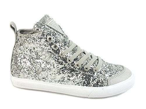 GUESS sneakers kid FABRIC SILVER FIVER2FAM12 eu33 (Guess Kids Shoes compare prices)