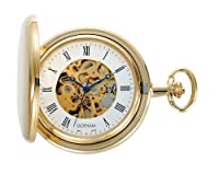Gotham Men's Gold-Tone 17 Jewel Exhibition Mechanical Covered Pocket Watch # GWC14038G by Gotham Watch