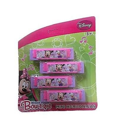 Minnie Mouse Bowtique 4pk Mini Harmonicas