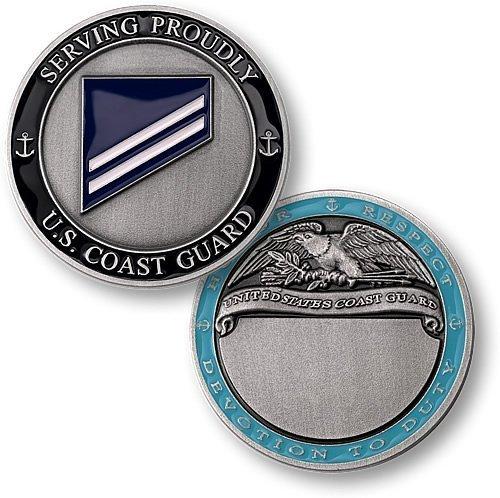 Coast Guard E2 Seaman Apprentice Engravable Challenge Coin