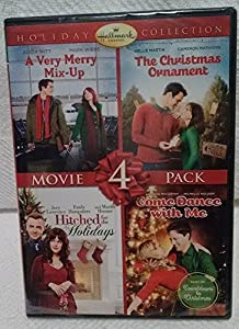 Hallmark Christmas 4 Pk DVD Very Merry Mix-Up Christmas Ornament Hitched Holidays Dance by Hallmark