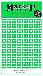 Map Dot Stickers - Green - 1/8