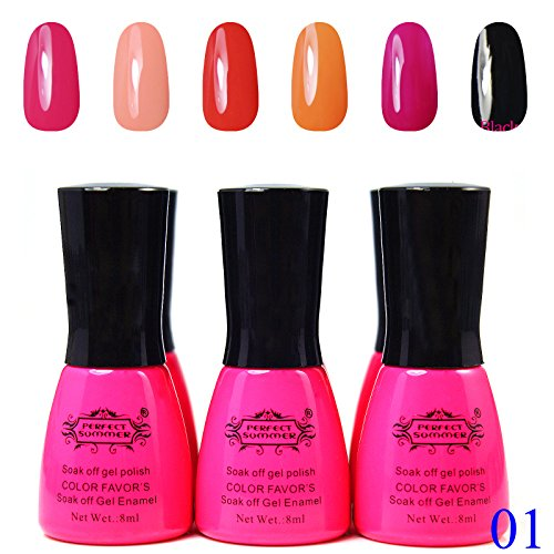 Perfect-Summer-6-pcs-Starter-Kit-8ml-UV-Gel-Soak-Off-Nail-Gel-Polish