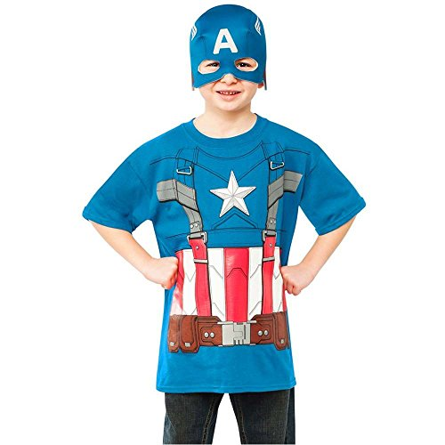 Retro Captain America Kids T-Shirt & Mask