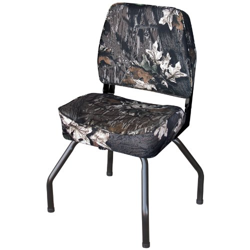 Wise Outdoors WD304-763 Hunting Blind Seat with Seat Stand and Swivel, Mossy Oak Break-Up Camouflage