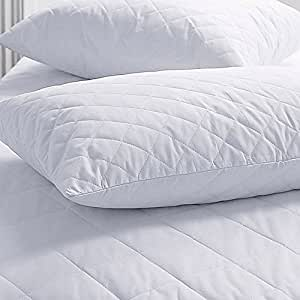 Amazon.com: SET OF 2 NEW ZIPPERED QUILTED PILLOW COVERS - STANDARD SIZE: Home & Kitchen