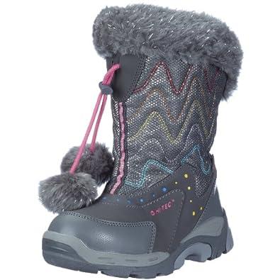 Hi-Tec Girls Heavenly Snow Boots, Grey/Pink, 2 UK