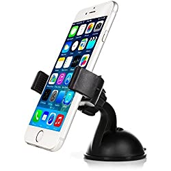Mobility Universal Smart Phone Car Mount with Suction for Dashboard / Windshield - Compatible with Virtually any Smartphone Including Apple iPhone, Samsung Galaxy & More