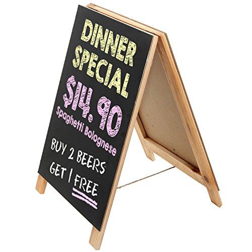 16 Inch Tabletop Natural Finish Wood A-Frame Erasable Chalkboard Menu Sign / Small Memo Message Board / Wedding Signage