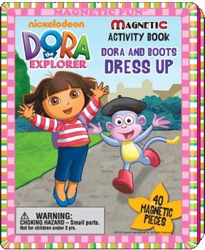 Dora the Explorer Magnetic Activity Book Dora and Boots Dress Up