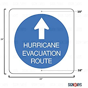 EM-1 Hurricane Evacuation Route Sign, 24