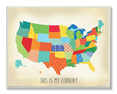 The Kids Room by Stupell This is my Country Quilted Rectangle Wall Plaque
