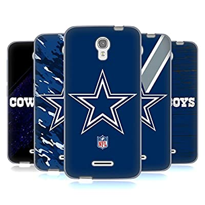 Official NFL Dallas Cowboys Logo Soft Gel Case for Alcatel OneTouch Pop Astro